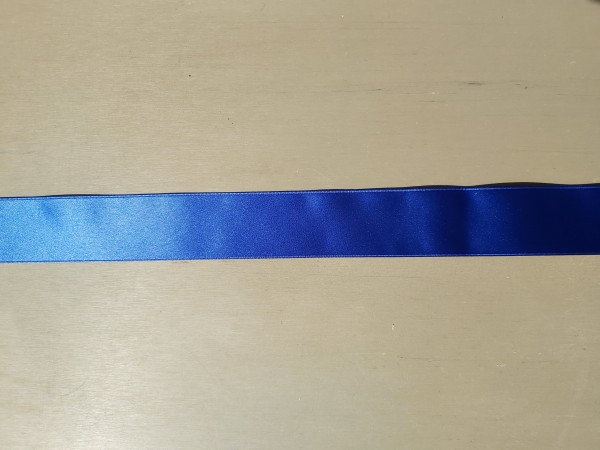 Satinband Double Face, Satin Lux, 40mm breit, Blau, col. 558