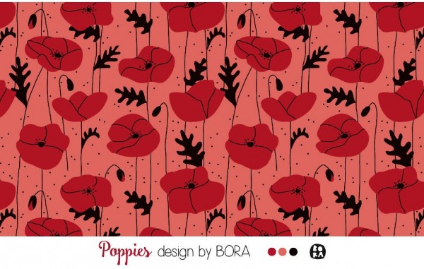 Lillestoff * Modal * Poppies Coral